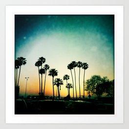 Long Beach Sunset Art Print