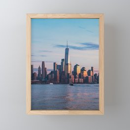 new york city skyline Framed Mini Art Print