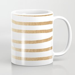 Simply Drawn Stripes Golden Copper Sun Coffee Mug