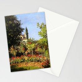 Monet : Garden in Bloom At Sainte-Addresse Stationery Cards