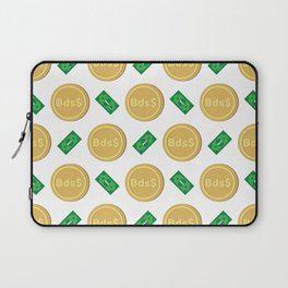 Barbados's Barbadian dollar Bsd$ code BBD banknote and coin pattern wallpaper Laptop Sleeve