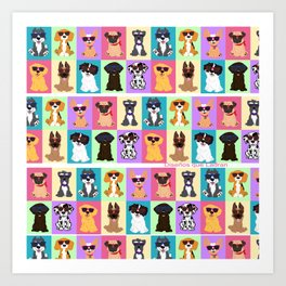 Doggi Breeds summer by Diseños que ladran Art Print