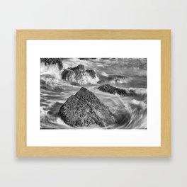 Around the Rocks Framed Art Print