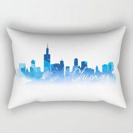 Chicago in Blue Rectangular Pillow