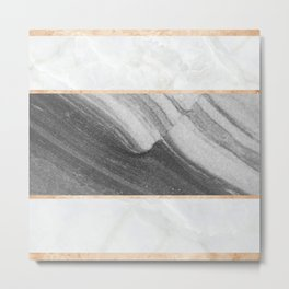 Marble Abstract Wave Metal Print