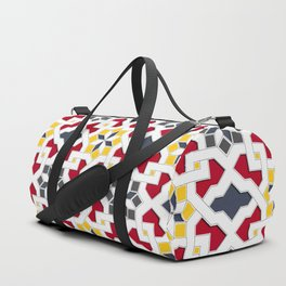 Traditional oriental pattern design -  geometric mosaic style Duffle Bag