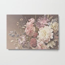Pastel Bouquet with Peonies Metal Print