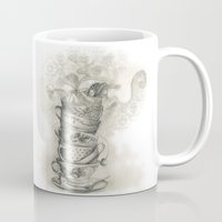 bath Mugs featuring Tea bath by Julia Kisselmann