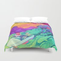 ponyo Duvet Covers featuring Ponyo by Jen Bartel