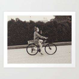 Vintage Bike Ride Art Print