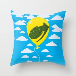 About To Pop Throw Pillow