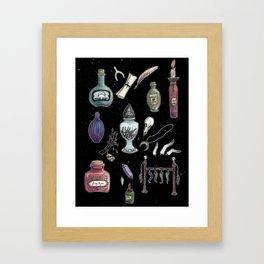 Witches' Stash Framed Art Print