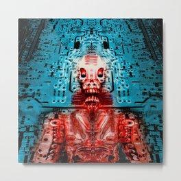 Sir Circuity's sartorial cybernetics Metal Print