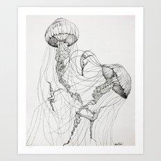 Jellyfish Dancers Art Print