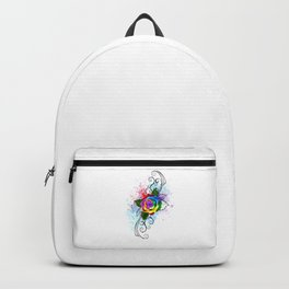 Patterned Rainbow Rose Backpack