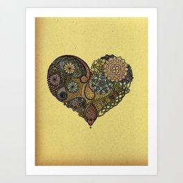 Tangled Heart Art Print