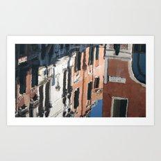Venetian Reflection Art Print