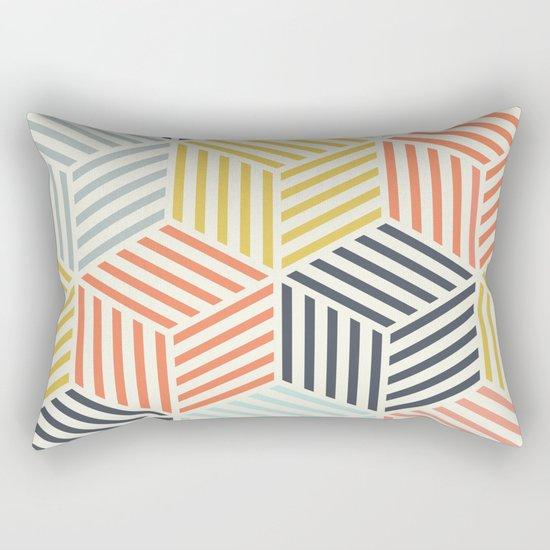 Colorful Geometric Rectangular Pillow