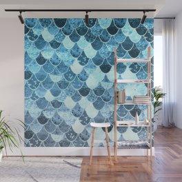 REALLY MERMAID SILVER BLUE Wall Mural