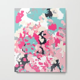 Addison - abstract minimal painting perfect gift valentines day hot pink love Metal Print