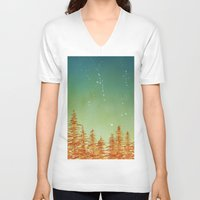 aurora V-neck T-shirts featuring Aurora by Andrew Coulter