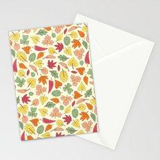 Leaf Pattern Stationery Cards