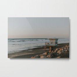 Lifeguard Station at Torrey Pines Metal Print
