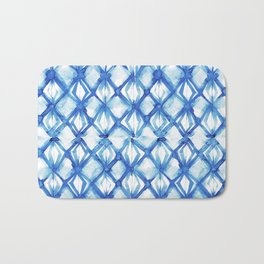 Nautical mermaid scales Bath Mat