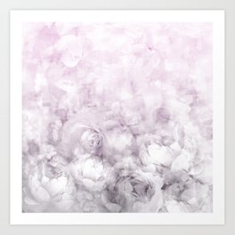 Tutut in pink and grey Art Print