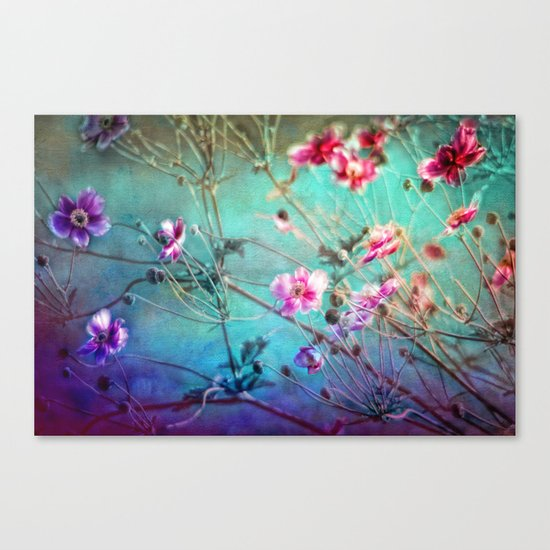 FLEURS DU PRÉ III - Wildflowers in painterly style Canvas Print