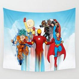 Team Heroes Wall Tapestry