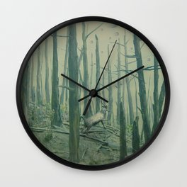 With Canvas Above, We Fall From The Sky Wall Clock