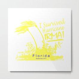 I survived Hurricane Irma Metal Print