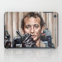 bill murray iPad Cases featuring Bill Murray / Ghostbusters / Peter Venkman by Heather Buchanan