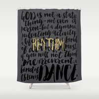 dance Shower Curtains featuring Dance by Pocket Fuel