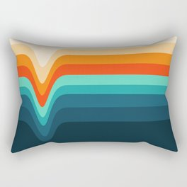 Retro Verve Rectangular Pillow
