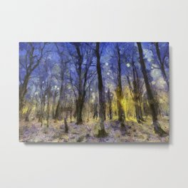 The Forest Van Gogh Metal Print