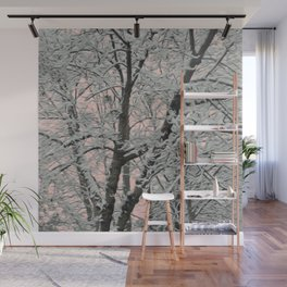 Big Tree In Snow Wall Mural