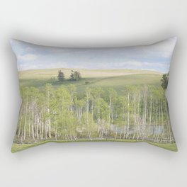 Lake and trees landscape Rectangular Pillow