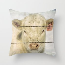 Moo Are So Beautiful Throw Pillow