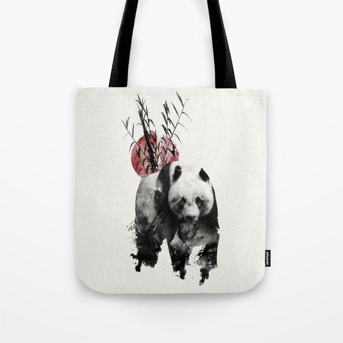 Rising Sun Panda Tote Bag