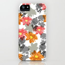 flowers and shadows iPhone Case