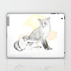 girl and fox Laptop & iPad Skin