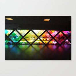 Rainbow airport Canvas Print