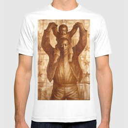 African-American Classical Masterpiece 'Black Father & Son, 1865' by Charles White T-shirt