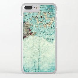 Turquoise Grunge Texture 1 Clear iPhone Case