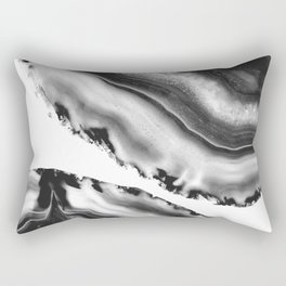 Gray Black White Agate #2 #gem #decor #art #society6 Rectangular Pillow