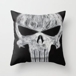Punisher skull Throw Pillow