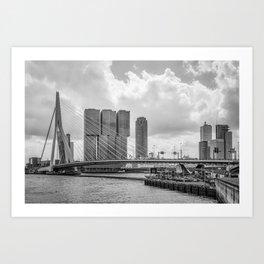 Rotterdarm cityscape Art Print