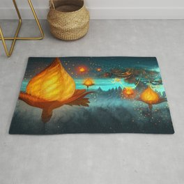 Magical lights Rug